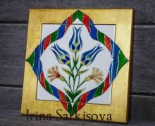 Керамическая плитка в деревянной раме