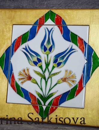 Роспись керамической плитки без обжига