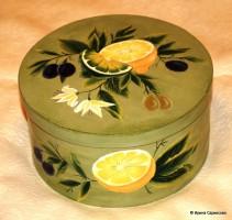 Шкатулка лимонная